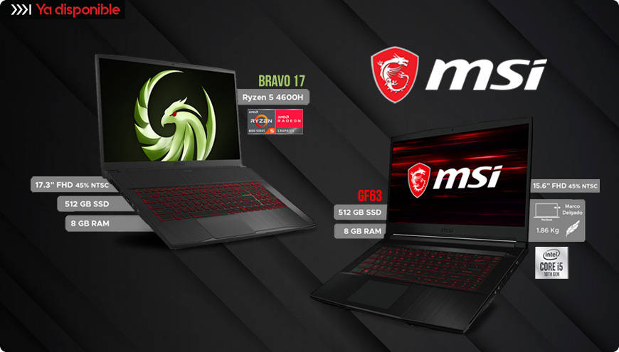 MSI Laptops